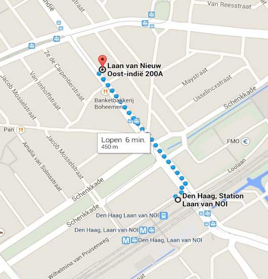 img looproute vanaf station - ons adres
