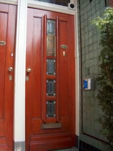 Foto van de deur van privehuis